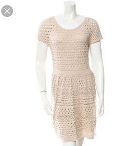 Tibi Cream Crochet Dress Size M
